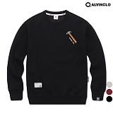 [앨빈클로]ALVINCLO MAR-629B 공구자수 맨투맨 크루넥 스��셔츠