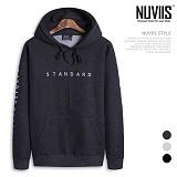 [뉴비스] NUVIIS - 스탠다드 기모 후드 티셔츠 (RO030HD)