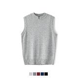 [어커버]ACOVER - Silt Neck Knit Vest #1 니트 조끼 베스트