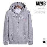 [뉴비스] NUVIIS - USA 패치 기모 오버핏 후드집업 (SP043HDZ)
