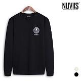 [뉴비스] NUVIIS - 해골 패치 기모 맨투맨 티셔츠 (RO031MT)