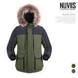 [뉴비스] NUVIIS - 배색 심플 라쿤패딩점퍼 (MR029PD)