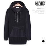 [뉴비스] NUVIIS - 아노락 반집업 기모 후드티셔츠 (LS022HD)
