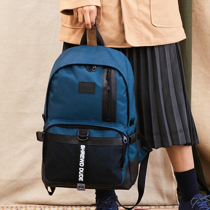 [지플랫] 블랙테일 백팩 (BLUE GREEN) 메쉬 가방 백팩