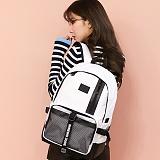 [지플랫] 블랙테일 백팩 (WHITE) 신학기 메쉬 가방 백팩