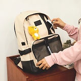 [지플랫] 블랙테일 백팩 (BEIGE) 신학기 메쉬 가방 백팩