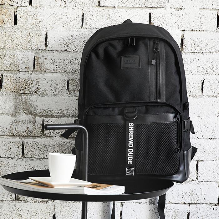 [지플랫] 블랙테일 백팩 (BLACK) 메쉬 가방 백팩