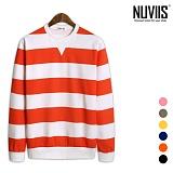 [뉴비스] NUVIIS - 유니크 컬러 단가라 맨투맨 티셔츠(NE044MT)