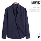 [뉴비스] NUVIIS - 심플 버튼포켓 마롤업 긴팔셔츠 (DP029SH)