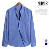[뉴비스] NUVIIS - 데님컬러 잔스트라이프 긴팔셔츠 (DP034SH)