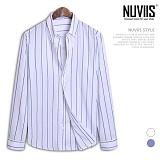[뉴비스] NUVIIS - 스트라이프 롤업 긴팔셔츠 (DP032SH)