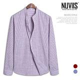 [뉴비스] NUVIIS - 잔스트라이프 차이나 긴팔셔츠 (DP030SH)