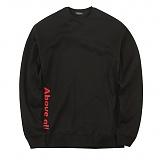 [어보브올]Above all Side logo MTM - Black 사이드 로고 맨투맨 크루넥 스��셔츠
