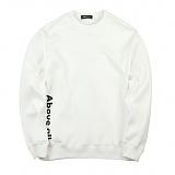 [어보브올]Above all Side logo MTM - Ivory 사이드 로고 맨투맨 크루넥 스��셔츠