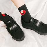 [제이아셀] JEASHER - Plain JS-101 블랙 에디션 신발 벨크로 스니커즈