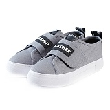 [예약발송 ! M사이즈] JEASHER - Plain JS-101 그레이 신발 벨크로 스니커즈