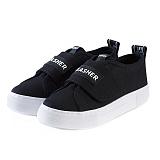 [제이아셀] JEASHER - Plain JS-101 블랙 신발 벨크로 스니커즈