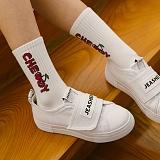 [제이아셀] JEASHER - Plain JS-101 화이트 신발 벨크로 스니커즈
