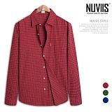 [뉴비스] NUVIIS - 도도 체크 오버핏 긴팔셔츠 (RW055SH)