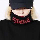[DISCENE] 디씬 SILENCE 오버핏 기모 목폴라 BLACK