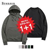 [1+1]브렌슨 - 헤비쭈리 드랍숄더 후드 + 맨투맨