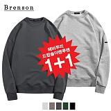 [1+1]브렌슨 - 헤비쭈리 드랍숄더 맨투맨 (SET)
