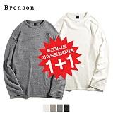 [1+1]브렌슨 - 루즈핏 니트 사이드 트임 티셔츠 4컬러