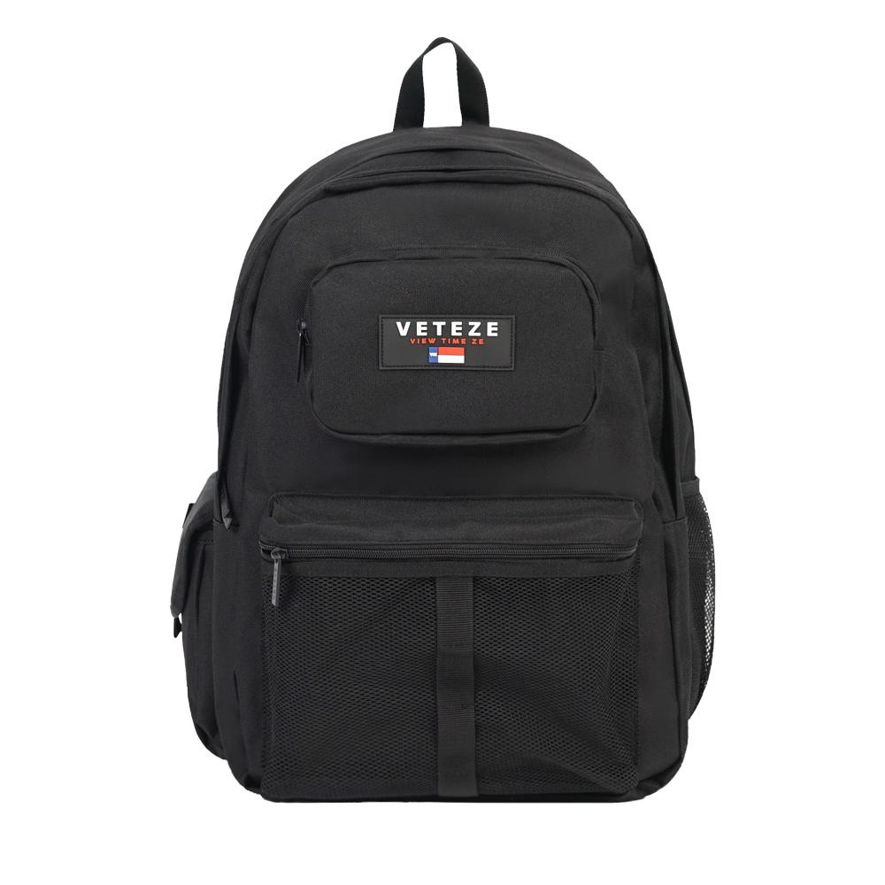 (6월20일 출고예정) 베테제 - Retro Sport Backpack (BLACK) 레트로 스포츠 메쉬 망사 백팩 가방
