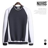[뉴비스] NUVIIS - 네오프렌 요꼬라인 배색 맨투맨티셔츠 (RT123MT)