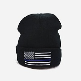 [로스코]ROTHCO - BLUE DELUXE US FLAG WATCH CAP 숏 비니 와치캡