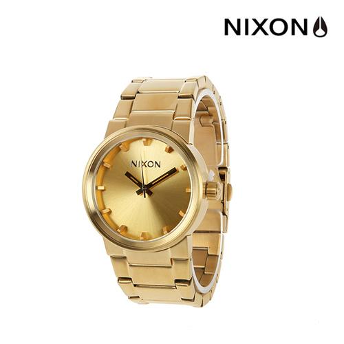 [닉슨]NIXON - Cannon Watch A160502-00 (All Gold) 39.5mm 캐논 올골드 금장 메탈 시계 와치