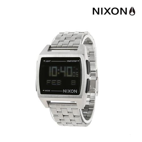 [닉슨]NIXON - Base Watch A1107000-00 (Black) 38mm 베이스 전자시계 실버 메탈 시계 와치