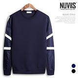 [뉴비스] NUVIIS - 네오프렌 소매직기배색 맨투맨티셔츠 (RT126MT)