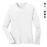 폴앤폴 - 무지 라운드 긴팔 티셔츠 (남여공용)