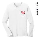 폴앤폴 - 풍선 라운드 긴팔 티셔츠 (남여공용)