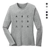 폴앤폴 - 알파벳 라운드 긴팔 티셔츠 (남여공용)