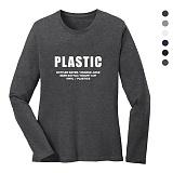 폴앤폴 - 플라스틱 라운드 긴팔 티셔츠 (남여공용)