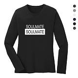 폴앤폴 - 소울메이트 라운드 긴팔 티셔츠 (남여공용)