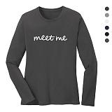 폴앤폴 - 미트미 라운드 긴팔 티셔츠 (남여공용)