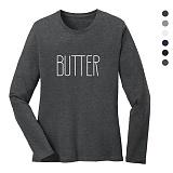 폴앤폴 - 버터 라운드 긴팔 티셔츠 (남여공용)