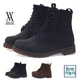 [에이벨류][6cm] 남성 키높이 마틴 하이탑 오일 부츠 워커 545-mix2(블랙.브라운) 남자 믹스2 베이직 신발