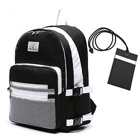 [로디스] LODIS 3D BACKPACK - BLACK & WHITE 메쉬 백팩 노트북수납 가방