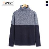 [탑보이] TOPBOY - 보카시 배색 폴라 니트 (RM017)