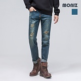 [모니즈]MONIZ 데미지 포인트 워싱 청바지 PDN131