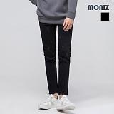[모니즈]MONIZ 밑단 컷팅 블랙 데님팬츠 PDN180