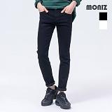 [모니즈]MONIZ 블랙 앤 화이트 데님팬츠 PDN193
