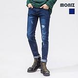 [모니즈]MONIZ 데미지 다크 워싱 청바지 PDN213