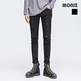 [모니즈]MONIZ 데미지 블랙 데님팬츠 PDN227