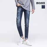 [모니즈]MONIZ 화이트 페인팅 워싱 청바지 PDN237