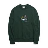 [위씨]WISSY - WAIKIKI MTM (GREEN)크루넥 스��셔츠 맨투맨